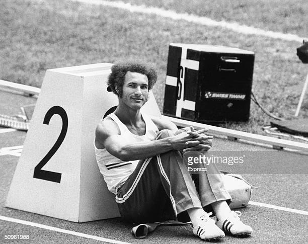 Cuban runner Alberto Juantorena gold medal winner in both the 400 and the 800 metres at the 1976 Montreal Olympics