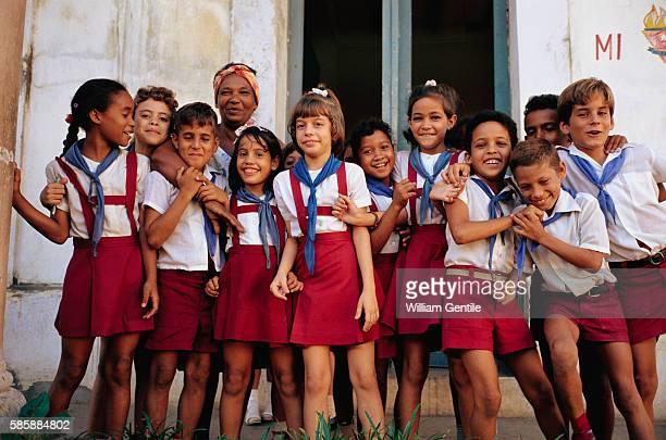 Cuban School Children in Uniform