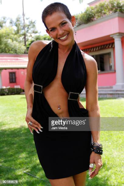 Cuban singer and actress Niurka Marcos during the press conference of the Fifth Gay Pride and Sexual Diversity Parade Morelos at the Villa Rosa Hotel...