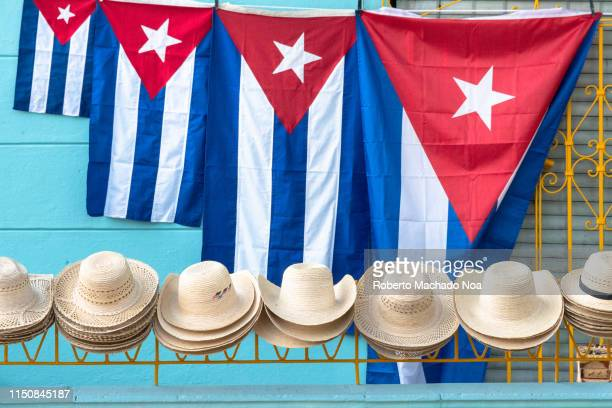 cuban souvenirs for sale in a private house, santa clara, cuba - santa clara cuba stock pictures, royalty-free photos & images