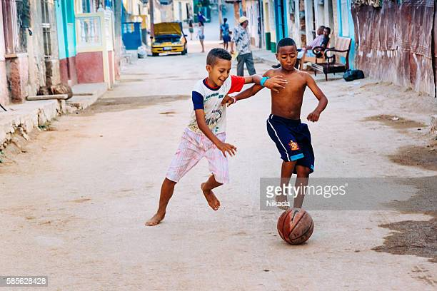 Cuban street soccer