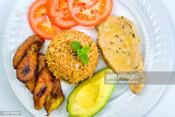 cuban traditional cuisine, pork meat - west indian culture stock pictures, royalty-free photos & images