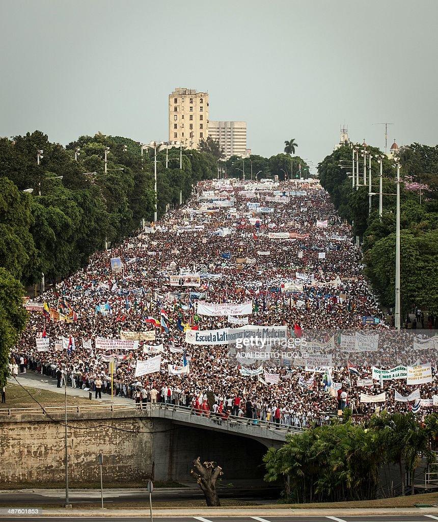 CUBA-MAYDAY-CASTRO : News Photo
