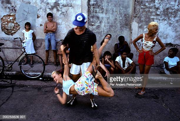 Cuban youth dance in the street on July 10 in Matanza Cuba The country had a severe drop in economic growth since the expiration of aid from the...