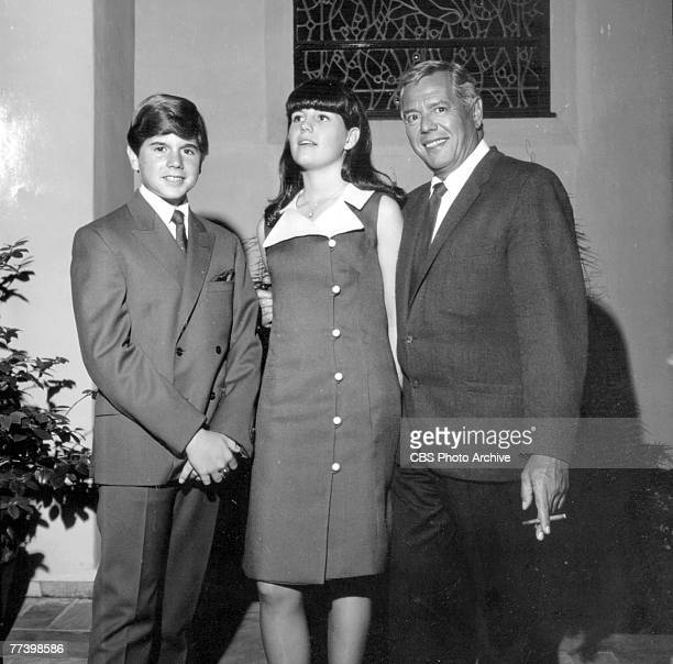 Cubanborn American actor comedian and musician Desi Arnaz poses with his children son Desi Arnaz Jr and daughter Lucie Arnaz June 3 1966 The family...