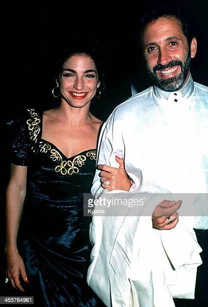 Cubanborn American singer Gloria Estefan with her husband musician Emilio Estefan circa 1992