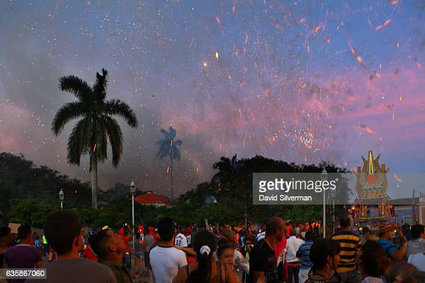 Cubans celebrate Christmas Eve with the festival of Las Parrandas de Remedios where the two neighborhoods of the town San Salvador represented by a...