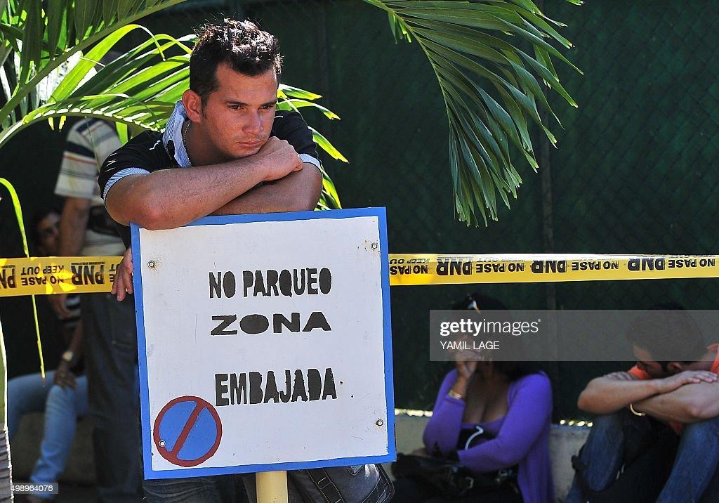 CUBA-ECUADOR-MIGRATION-PROTEST : News Photo
