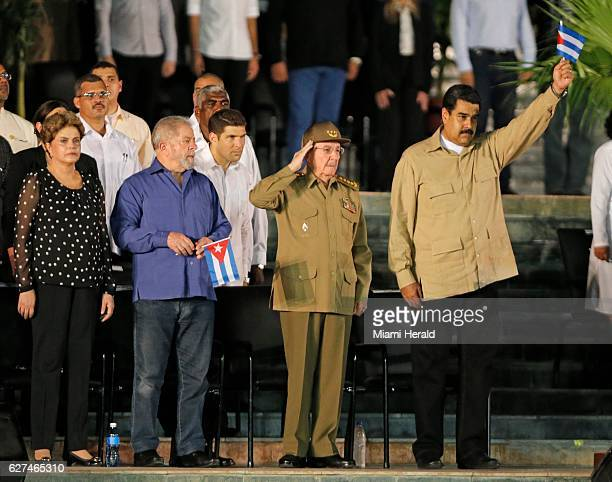 Cubans wait for the arrival of Fidel Castro's ashes at the Antonio Maceo Plaza Revolucion in Santiago de Cuba on Saturday Dec 3 2016