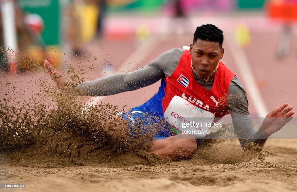 PANAM-2019-ATHLETICS-LONG JUMP-CUB : News Photo
