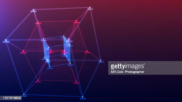 cube geometric shape abstract background futuristic design,data connected line and dots,futuristic digital background for business science and technology, - atomic imagery stock pictures, royalty-free photos & images
