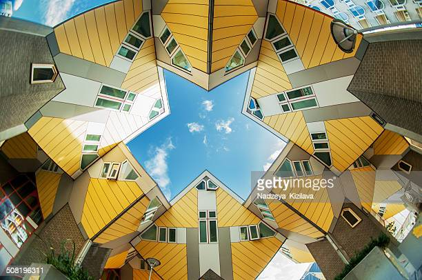 cube houses in rotterdam - rotterdam stock pictures, royalty-free photos & images