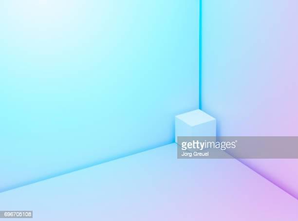 Cube in a corner