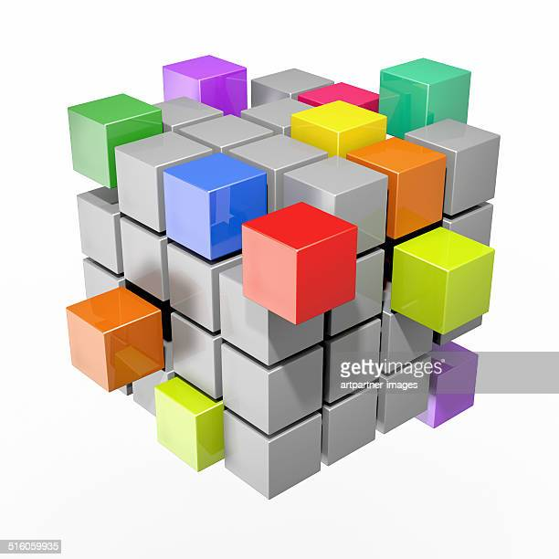 Cube made of smaller cubes