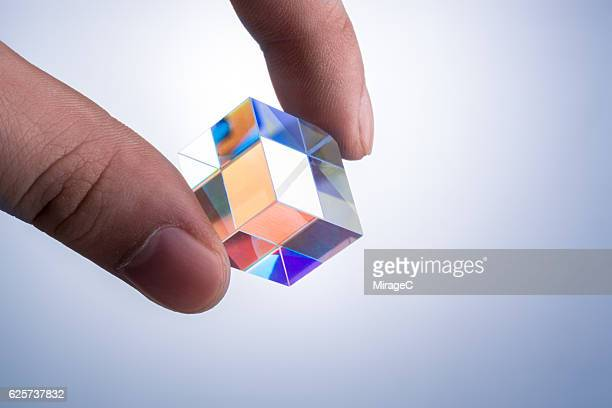 Cube Prism Close-up View