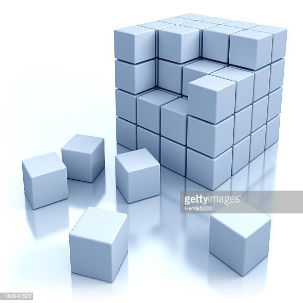 Cubes concept - isolated with clipping path