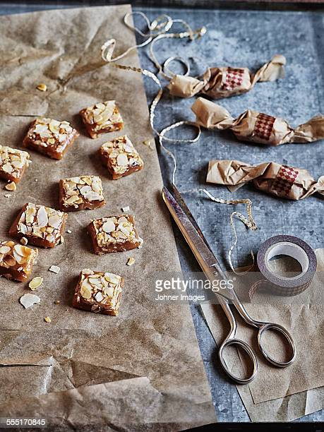 cubes of fudge - fudge stock photos and pictures