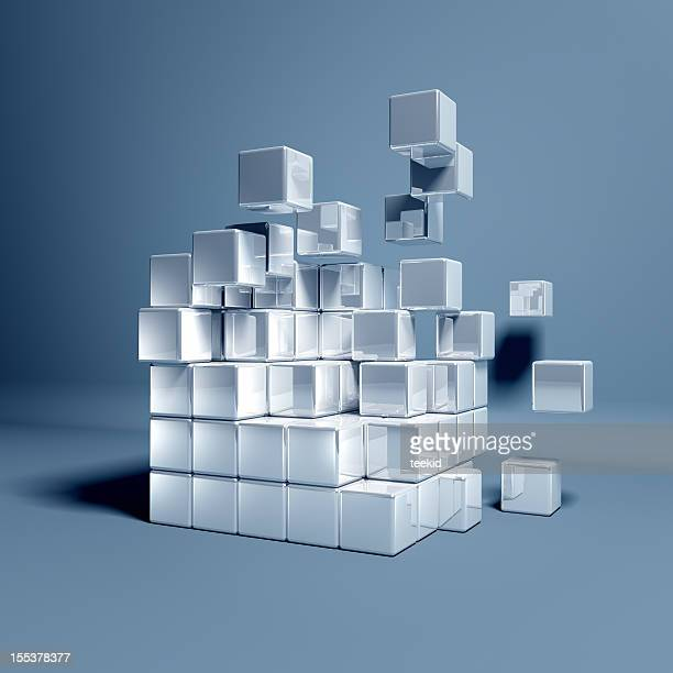 cubes - digital composite stock pictures, royalty-free photos & images