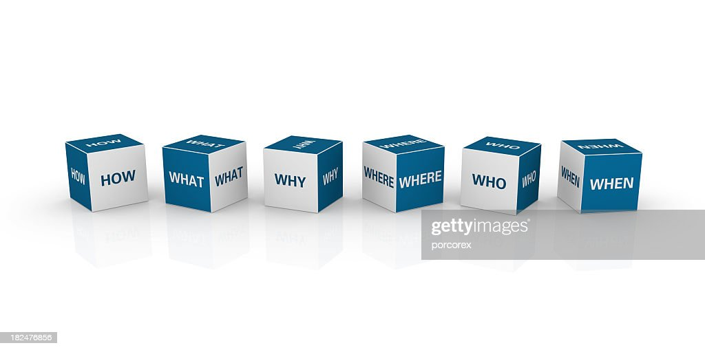 Cubes with Questions : Stock Photo