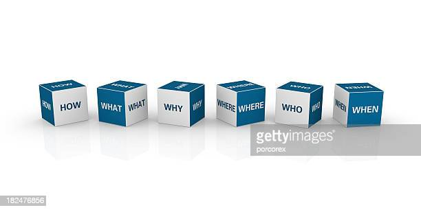 cubes with questions - q&a stock pictures, royalty-free photos & images