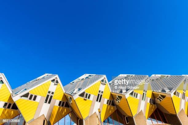 cubic houses in rotterdam netherlands - rotterdam stock pictures, royalty-free photos & images
