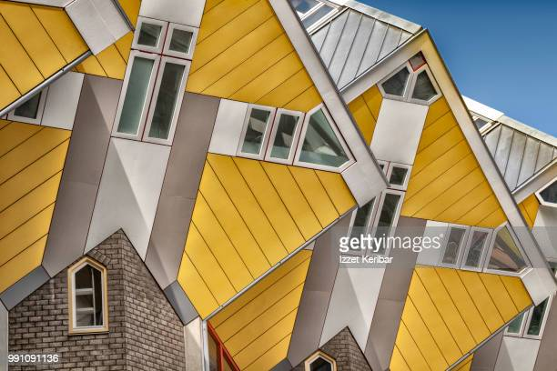cubic houses of rotterdam, netherlands - rotterdam stock pictures, royalty-free photos & images