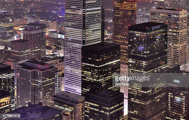 cubic skyscrapers in downtown toronto - downtown stock pictures, royalty-free photos & images