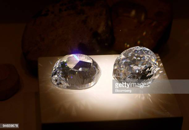 Cubic zirconia replicas of the original and a modern KohiNoor diamond are on display at the Natural History Museum's new permanent gallery ''The...