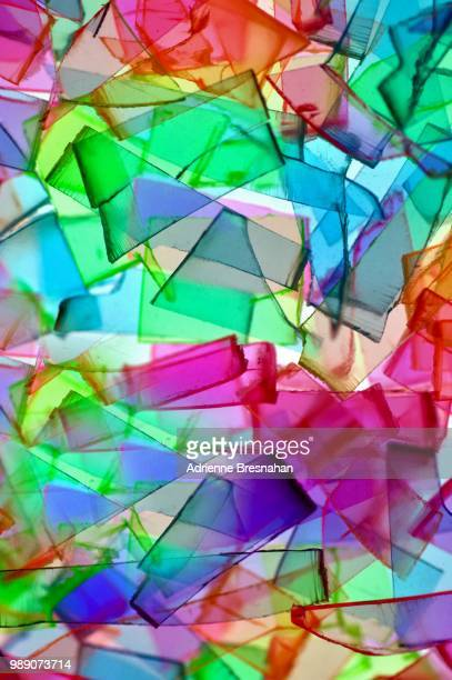 cubist design of shards - acrylic glass stock pictures, royalty-free photos & images