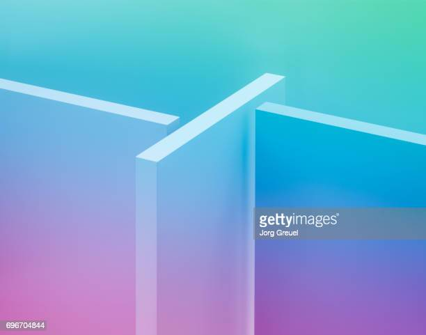 cuboids - magenta stock pictures, royalty-free photos & images