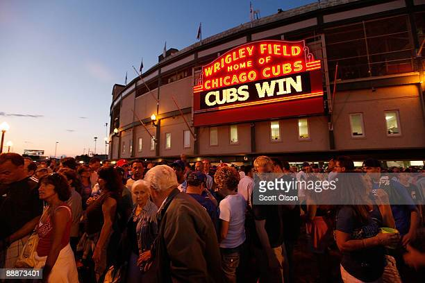 Cubs fans leave Wrigley Filed after the Chicago Cubs defeated the Atlanta Braves 42 July 6 2009 in Chicago Illinois The Tribune Company which owns...