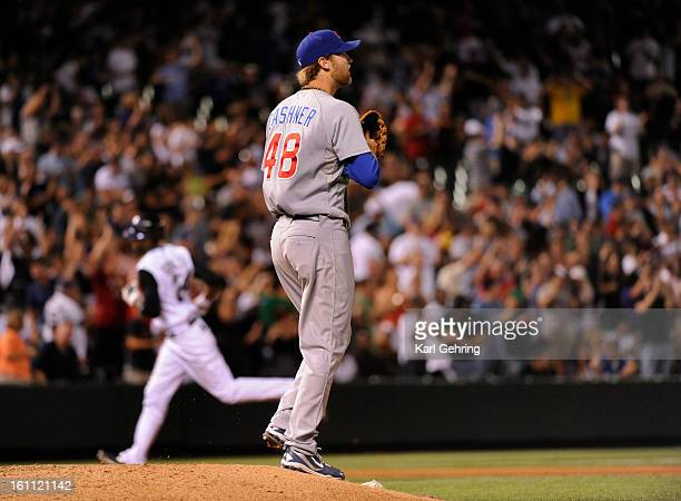 Cubs reliever Andrew Cashner waited for Dexter Fowler to round the bases after an eigth inning homerun blast The Colorado Rockies beat the Chicago...