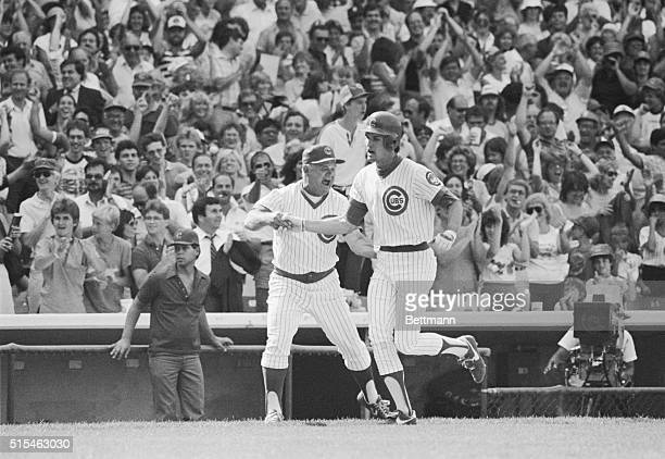 Cubs' Ryne Sandberg hits a gamewinning home run in the bottom of the 10th inning at Wrigley Field 7/12 The solo homer gave the Cubs a 32 win and a...
