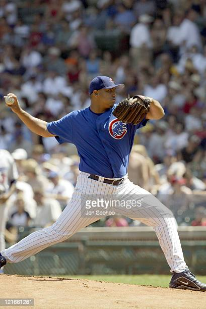 Cubs starting pitcher Carlos Zambrano during Chicago Cubs vs. Los Angeles Dodgers - 17 August, 2003 at Wrigley Field, Chicago Cubs Stadium in...
