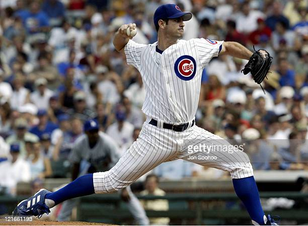 Cubs' starting pitcher Mark Prior in the first at Wrigley against the Dodgers