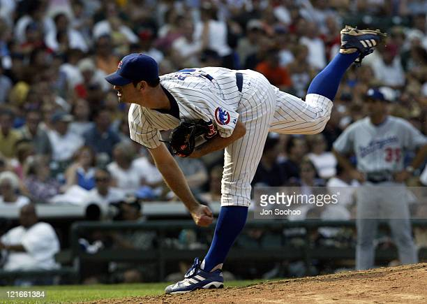 Cubs' starting pitcher Mark Prior in the seventh inning at Wrigley Field.
