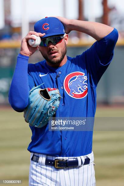 Cubs third baseman Kris Bryant comes off the field after warmups during Big League Weekend featuring the Chicago Cubs and Cincinnati Reds on March 7,...