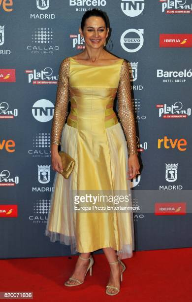 Cuca Escribano attends the Platino Awards 2017 welcome Party on July 20 2017 in Madrid Spain
