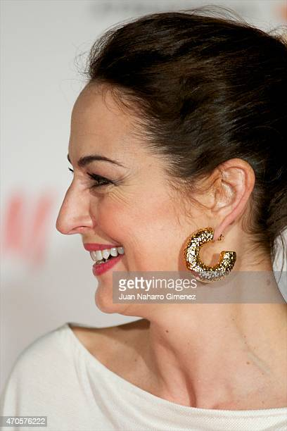 Cuca Escribano attends the 'Requisitos Para Ser Una Persona Normal' premiere during the 18th Malaga Spanish Film Festival at Cervantes Theater on...
