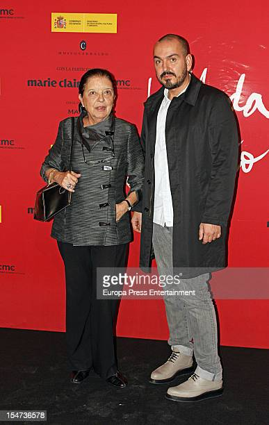 Cuca Solana and Juan Duyos attend the opening of 'Fashion Is A Dream 25th Anniversary of Spanish Talent' at Cerralbo Museum on October 24 2012 in...