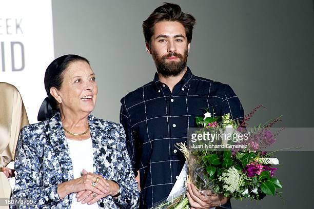 Cuca Solana and Juan Vidal attend L'Oreal Award during Mercedes Benz Fashion Week Madrid Spring/Summer 2014 at Ifema on September 16 2013 in Madrid...