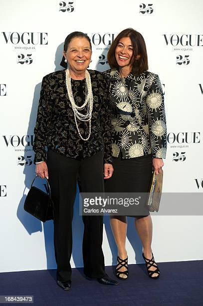 Cuca Solana and Nuria de Miguel attend the Vogue Who's On Next photocall at the Italian embassy on May 9 2013 in Madrid Spain