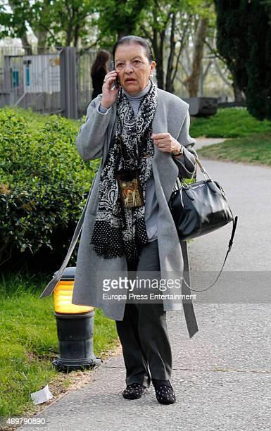 Cuca Solana attends the funeral for Spanish designer Pedro del Hierro on April 14 2015 in Madrid Spain