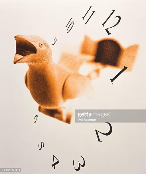 'Cuckoo' with clock numerals (Digital Composite)