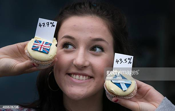 Cuckoo's Bakery waitress Pippa Perriam reveals the result of the cupcakes referendum that the bakery has been holding since March 7 by selling Yes No...