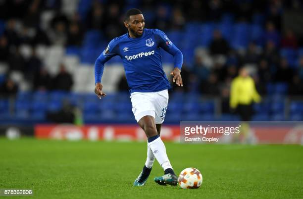 Cuco Martina of Everton during the UEFA Europa League group E match between Everton FC and Atalanta at Goodison Park on November 23 2017 in Liverpool...