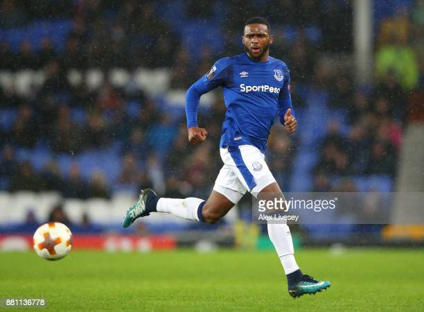 Cuco Martina of Everton runs with the ball during the UEFA Europa League group E match between Everton FC and Atalanta at Goodison Park on November...