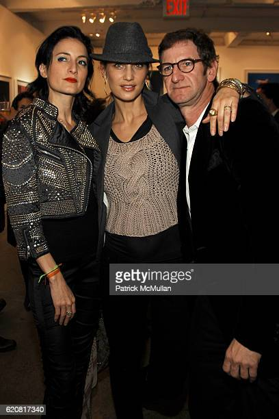 CuCu Diamantes Manon Von Gerkan and Mark Seliger attend Private Viewing of 'Merce My Way' By Mikhail Baryshnikov at 401 Projects on March 15 2008 in...
