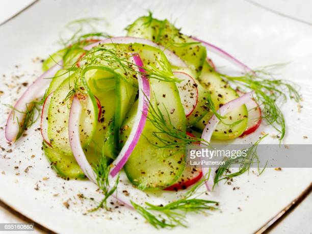 cucumber salad - red onion stock pictures, royalty-free photos & images