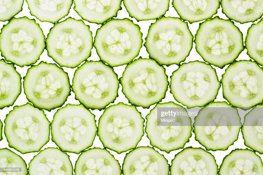 Cucumber Slices Full Frame Shot : Stock Photo